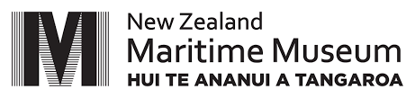 NZ Maritime Museum logo in black and white